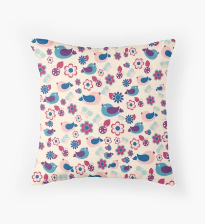 Decorative spring pattern Throw Pillow