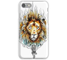 Origami Lines Tiger Wild Flame iPhone Case/Skin