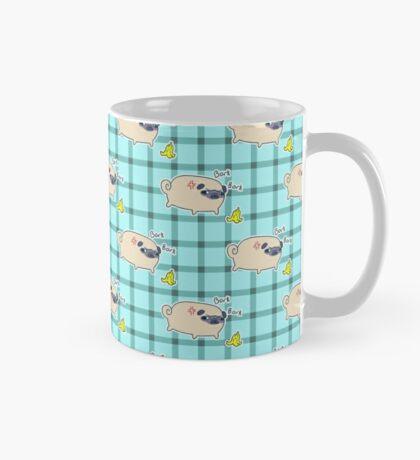 Bork Bork Pug Pattern Mug