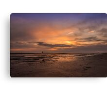 Crosby Beach after sunset Canvas Print