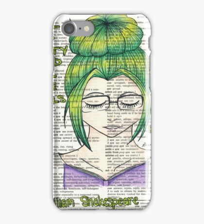 Shakespeare Quote For Readers iPhone Case/Skin