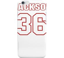 NFL Player Tanard Jackson thirtysix 36 iPhone Case/Skin