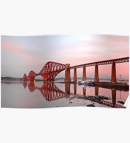 Forth Railway Bridge Sunset Poster