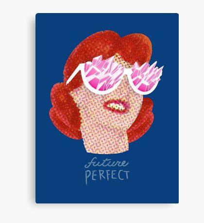 Future Perfect Rose colored glasses Canvas Print