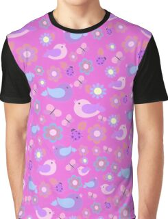 Pink spring pattern Graphic T-Shirt