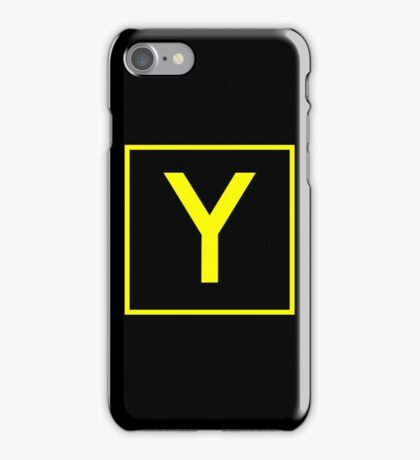 Y - yankee - taxiway sign iPhone Case/Skin