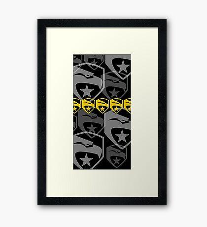 The Iconic G.I.Joe (black) Framed Print