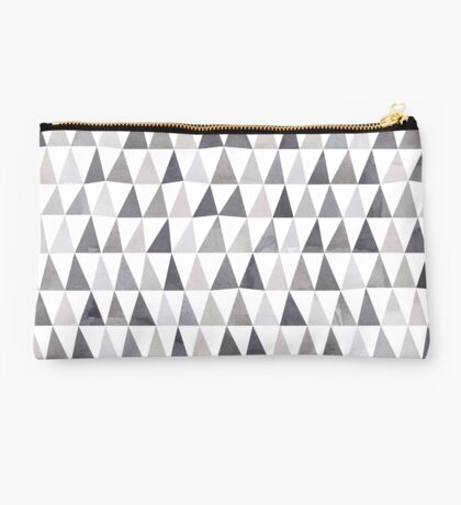 Muted Triangles Imperfect Geometry Studio Pouch