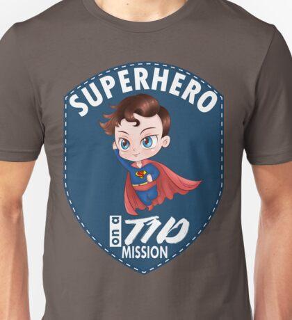 Superhero on a T1D mission - Diabetes superhero, t1d, diabetes type 1, diabetics, type one, mission, hero Unisex T-Shirt