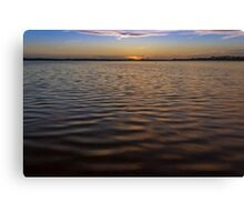 A look across the lake Canvas Print