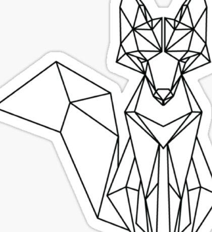 zorro lineal Sticker