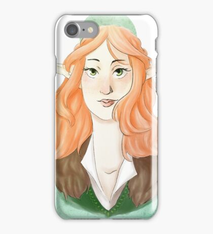 red hair elf iPhone Case/Skin