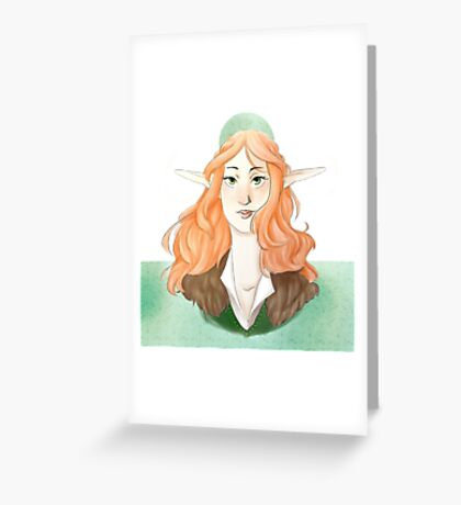 red hair elf Greeting Card