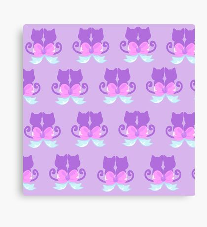 cats and bow Canvas Print