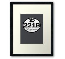 221B Baker St. Framed Print