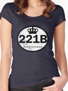 221B Baker St. Women's Fitted Scoop T-Shirt