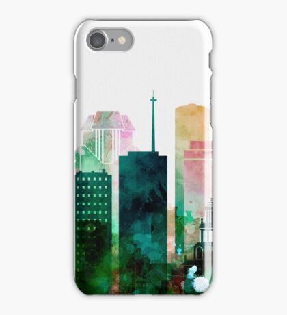 Houston colorful Skyline, Texas Cityscape iPhone Case/Skin