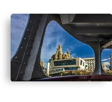 Liver building from the Mersey Ferry Canvas Print