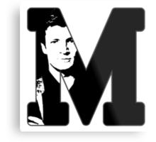 M for Mal Metal Print