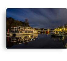 Boats on the River Dee, Chester Canvas Print