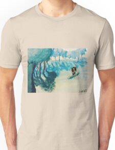 Girl at the edge of the forest Unisex T-Shirt