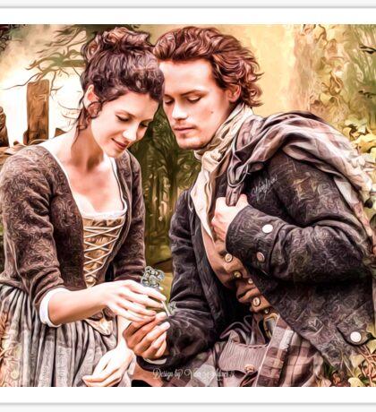 "Claire & Jamie ""The keys to my heart"" Sticker"