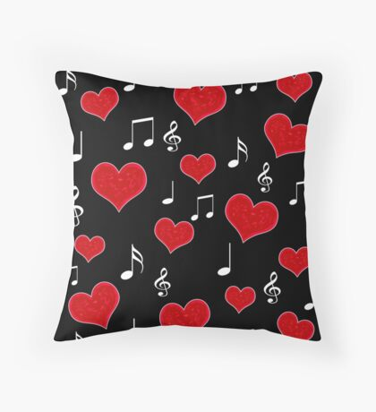 Love song - Valentines day Throw Pillow