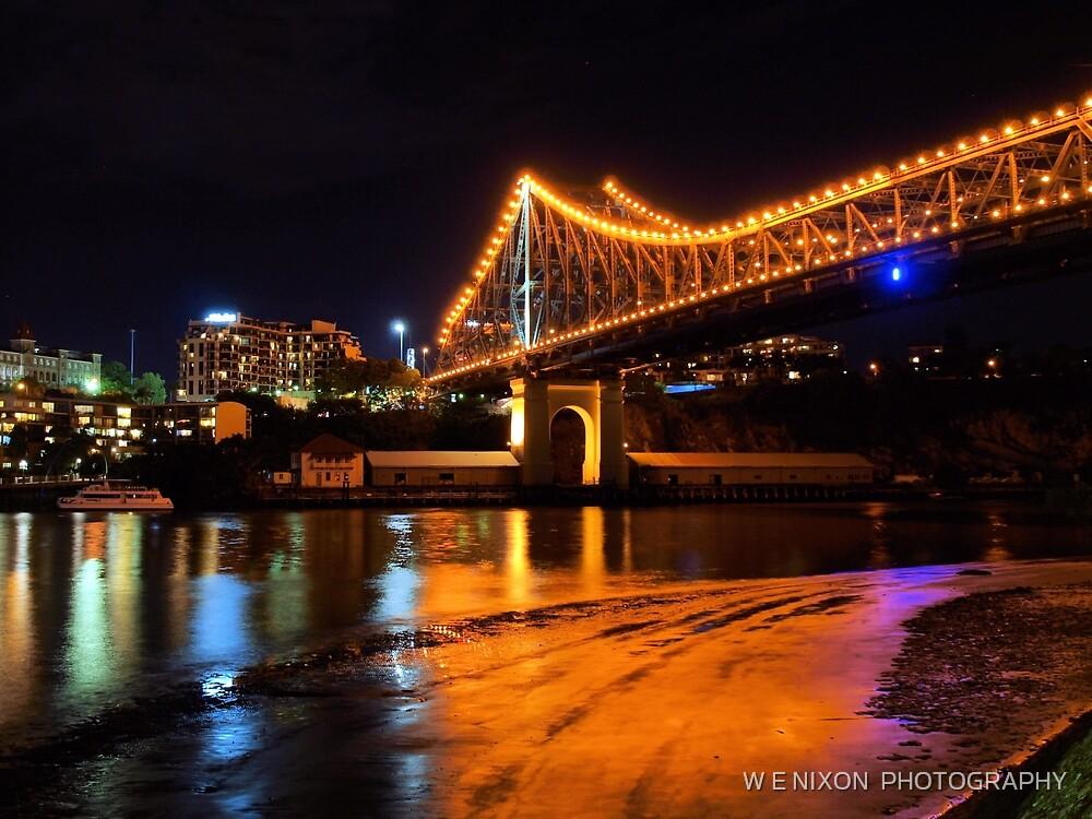 Low tide under the Storey Bridge by Wayne  Nixon  (W E NIXON PHOTOGRAPHY)