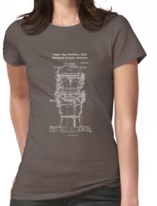 Margaret Knight, Inventor of the Paper Bag Machine - blueprint Womens Fitted T-Shirt