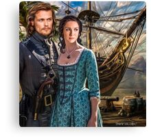 """Claire & Jamie """"We crossed oceans of time to be together"""" Canvas Print"""