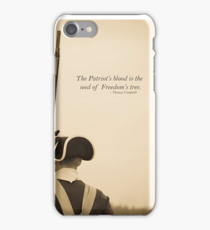 Patriots Blood Quote iPhone Case/Skin