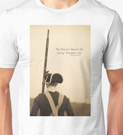 Patriots Blood Quote Unisex T-Shirt