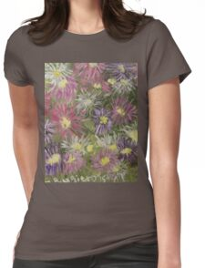 Fireworks Flowers Womens Fitted T-Shirt