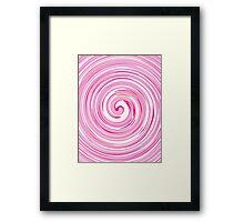 Beautiful pink swirls.  Framed Print