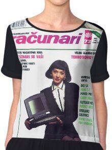Racunari - Retro Computer Girl 72 Chiffon Top