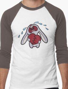 Broken Hearted Bunny Men's Baseball ¾ T-Shirt