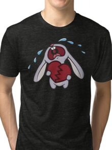 Broken Hearted Bunny Tri-blend T-Shirt