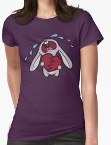 Broken Hearted Bunny Womens Fitted T-Shirt