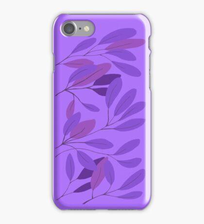 leaves - blue iPhone Case/Skin