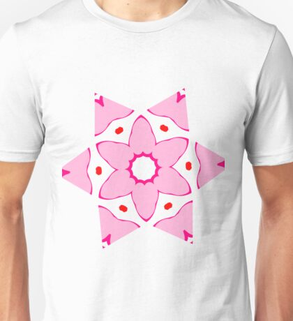 Simple pink flower Unisex T-Shirt
