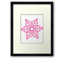 Simple pink flower Framed Print