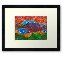 Contour Mountains Framed Print