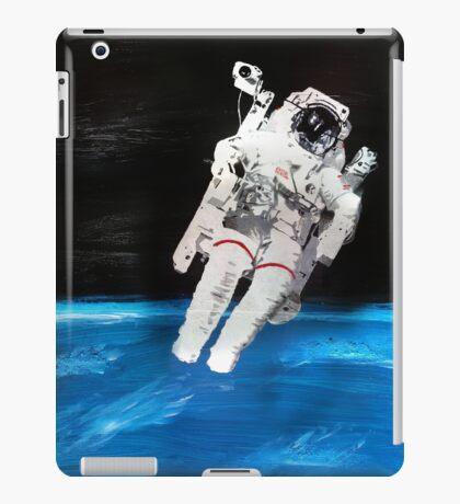Astronaut Spacewalk with Blue Earth (Acrylic Painting) iPad Case/Skin
