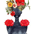 Crown of Flowers Silhouette (0001) by TabithaBianca