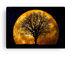 Tree and Moon  Canvas Print