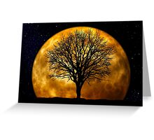 Tree and Moon  Greeting Card