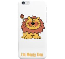 Cool Monty Lion Design  iPhone Case/Skin