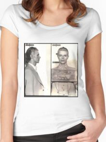 Bowie Mugshot Women's Fitted Scoop T-Shirt