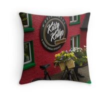 Kitty Kelly's restaurant, Donegal - tall Throw Pillow