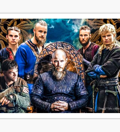 """Ragnar Lodbrok """"There i shall wait for my sons to join me..."""" Sticker"""